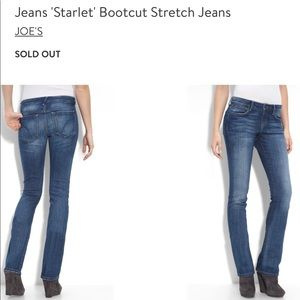 "Joe's ""Starlet"" bootcut stretch jeans"